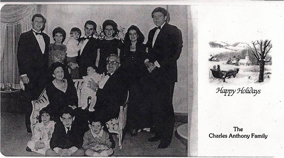 Charles Anthony family Christmas picture