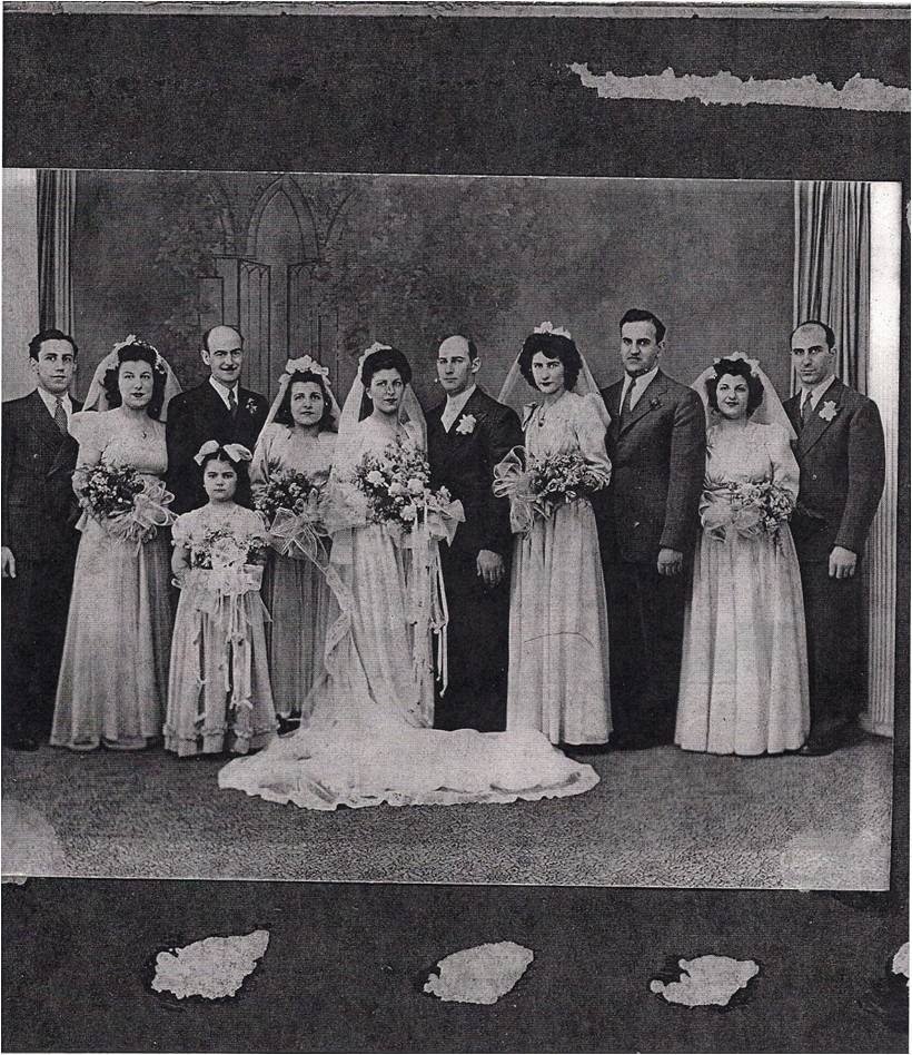 Eamily Mater and Larry Schneider's 1949 wedding