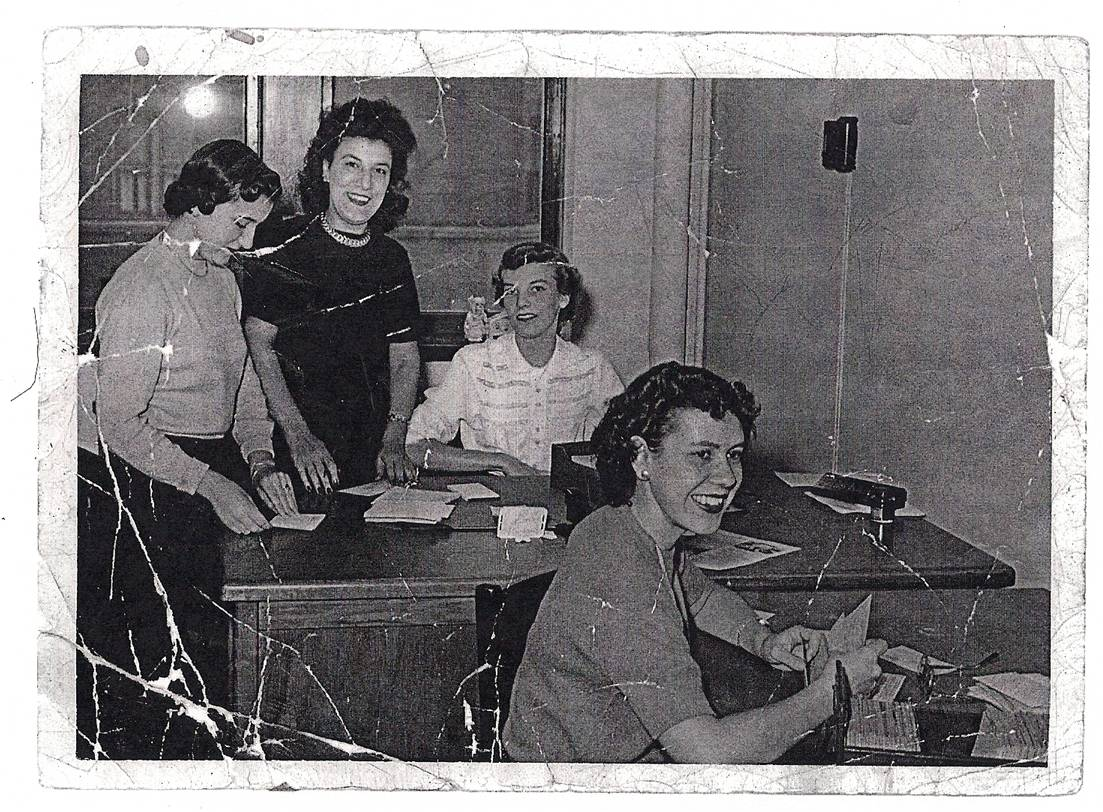 Margaret Mater and her staff at Marquette 1945